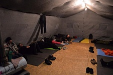 Nochlezhka opens two heated tents today
